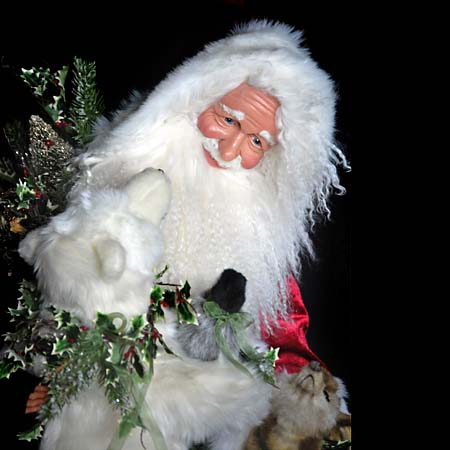 Arctic Hugs Collectible Santa 28 inch with fawn and white bear 415 927 3527 Stone Soup Designs 3