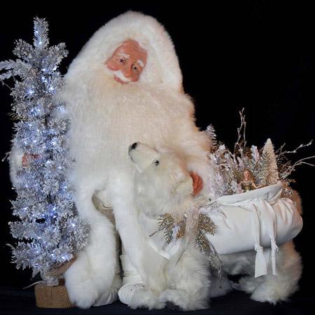 Arctic Sparkle Collectible Santa