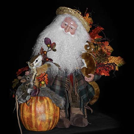 Fall Frolic Collectible Santa