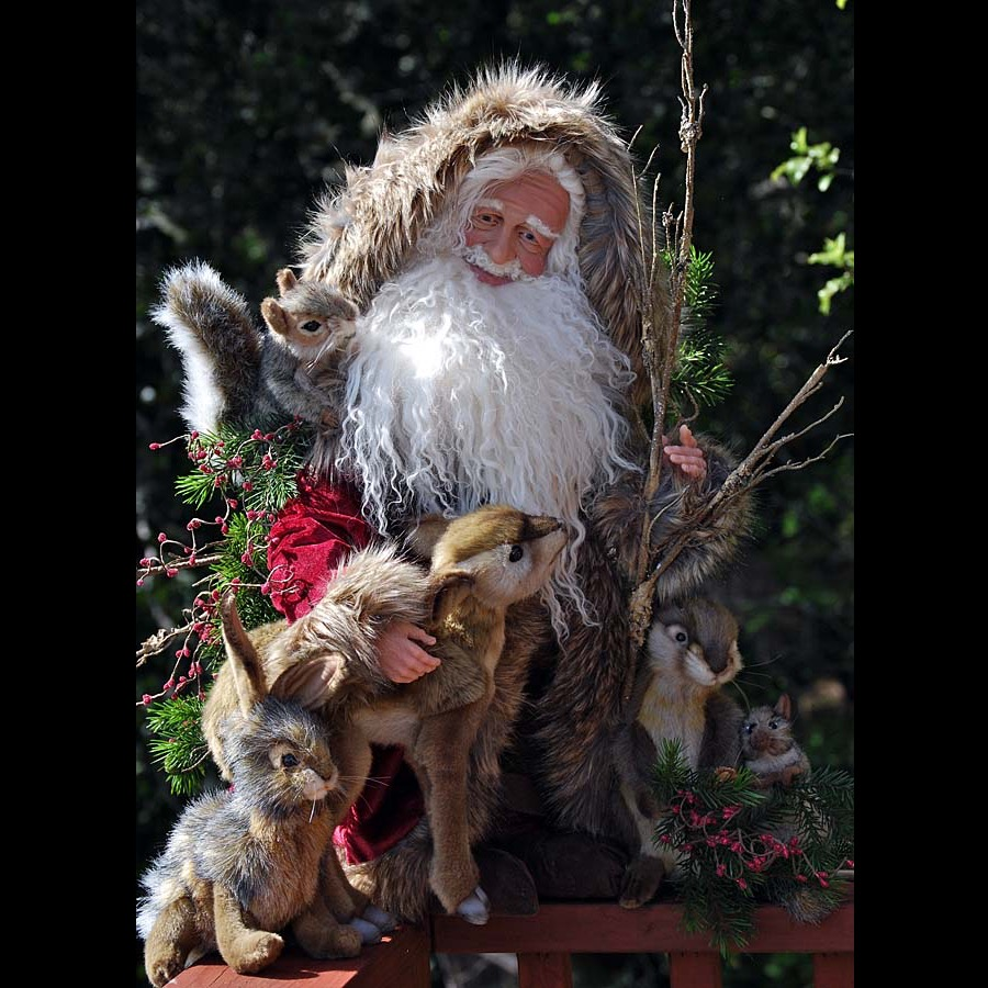 Forest Friendship Collectible Santa