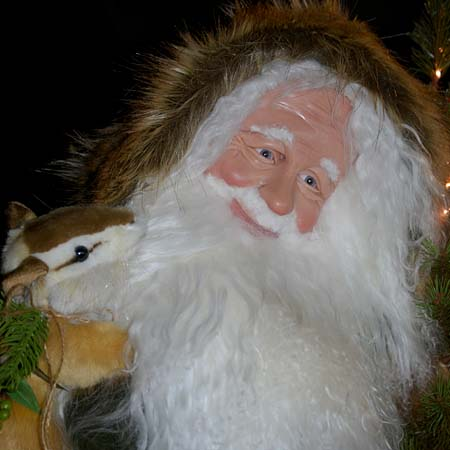 Northwoods Collectible Santa 28 inch with fawn and rabbit 415 927 3527 Stone Soup Designs