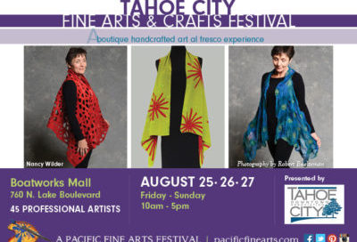 Tahoe City Fine Arts & Crafts Festival, August 25-27